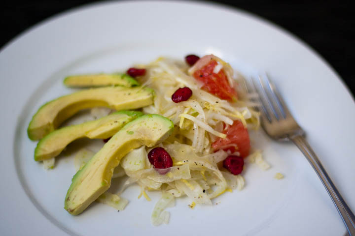 endive, fennel and avocado salad with grapefruit dressing | nibble and ...