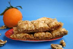 Baklava dolce tipico greco noci e fillo