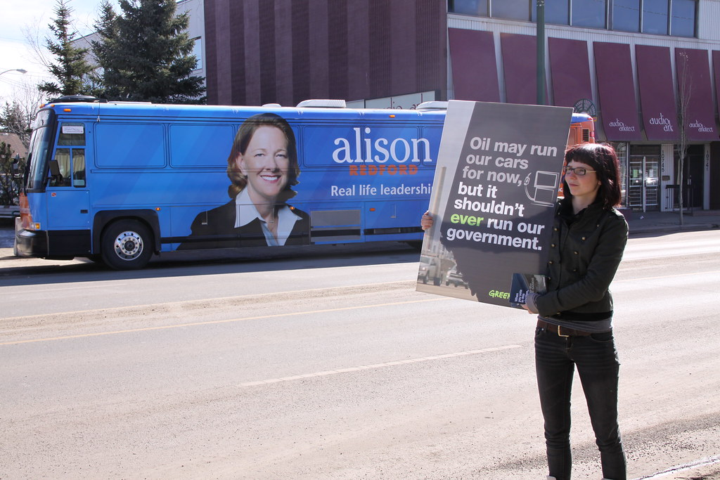Premier Alison Redford Election 2012 Greenpeace