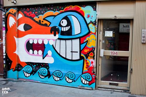 Street Art Mural by street artist Malarky & Pez
