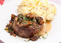 filet with truffle butter and tarragon-marsala sauce