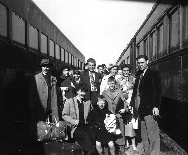 Dutch Immigrants Arrive at the Lethbridge Train Station