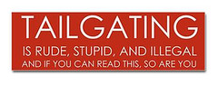 end_tailgating_bumper_bumper_sticker