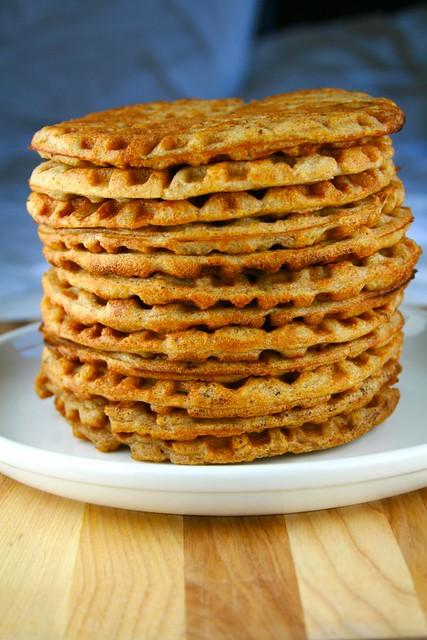 Whole Wheat Sourdough Waffles