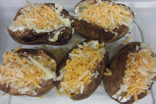 Valentine's Day Dinner Twice Baked Potatoes