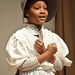 Aja Shakira Ali Muhammed a nine year old fourth grader at Hyde-Addison Elementary School in Georgetown, Washington, D.C. gave a striking rendition of the the narrative Sojourner Truth delivered at the 1851 Ohio Women Rights Convention, 'Ain't I A Woman' to a standing room only crowd.