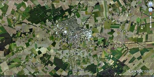 Baarle-Hertog and Baarle-Nassau (via Google Earth)