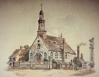 Image of Église Notre-Dame du Bonsecours. art church montréal québec oldmontreal mccord église vieuxmontréal notredamedebonsecours estampe bunnett