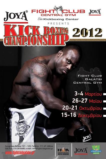 Joya Kickboxing Championship 2012 poster