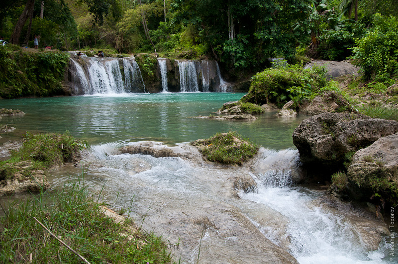 Cambugahay Falls in Lazi, Siquijor