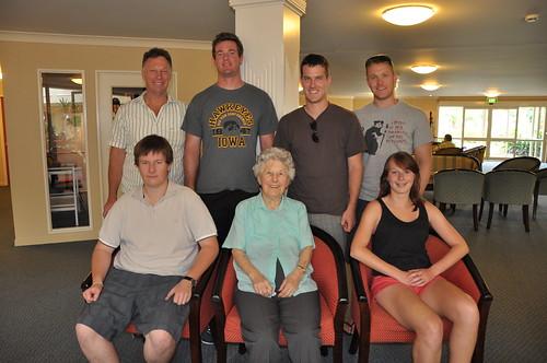 Alma and her grandchildren