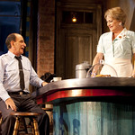Will LeBow (as Carl) and Karen MacDonald (as Grace Hoylard) in the Huntington's production of William Inge's BUS STOP, directed by Nicholas Martin. September 17 — October 17, 2010 at the Avenue of the Arts / BU Theatre. Photo: T. Charles Erickson