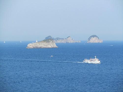 Capri e le isole del golfo di Napoli viste da Massalubrense