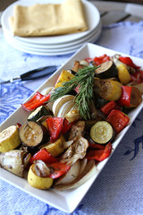 Balsamic Roasted Vegetables with Rosemary, Artichokes & Zucchini 4