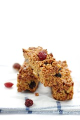 Granola bars with cranberries