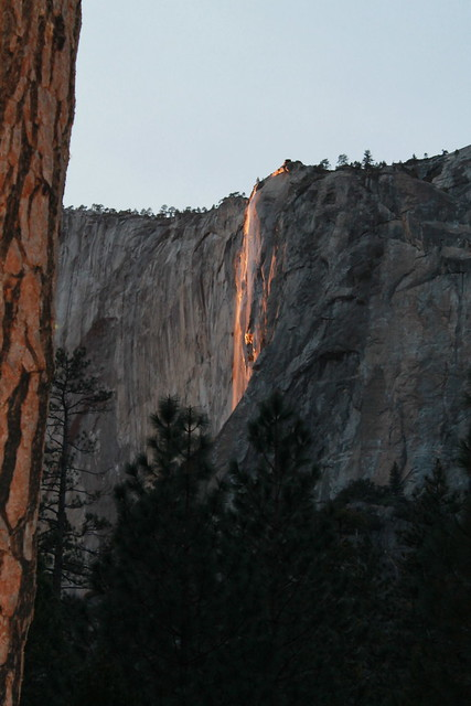 Horsetail Fall on Fire