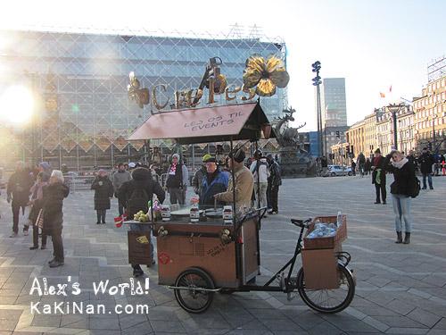 Man selling Crepes in Copenhagen, Denmark