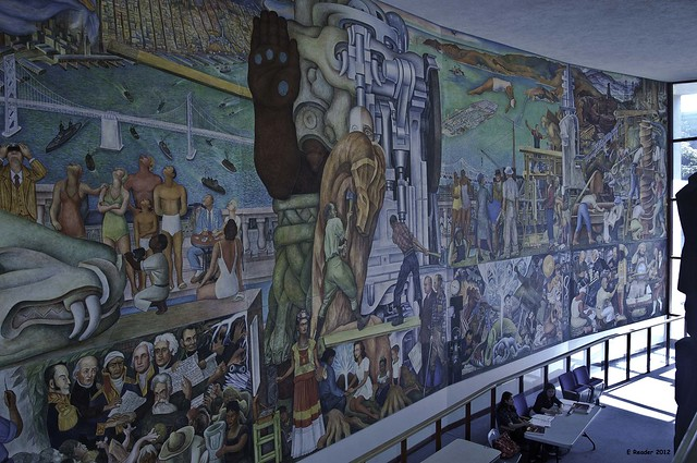 Pan american unity mural by diego rivera right side for Diego rivera mural in san francisco