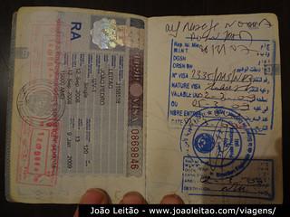 Visto da Mauritania em passaporte portugues (folha da direita)