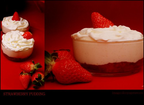 strawberry pudding by {deepapraveen very busy with work..back soon