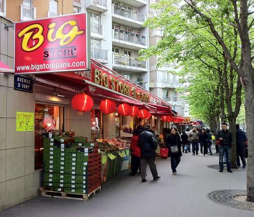 Shopping, sonntags im Pariser Chinatown