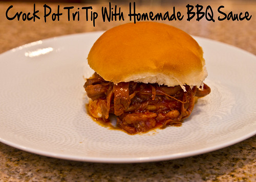 Crock Pot Tri Tip with Homemade BBQ Sauce