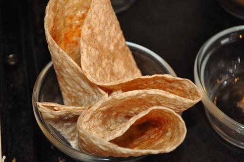 tortilla bowls/microwave