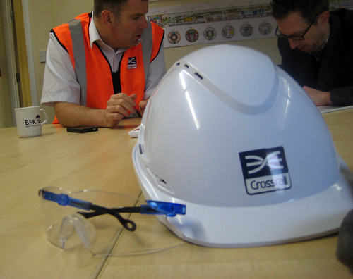 Hard Hat & Goggles - Crossrail Site Visit