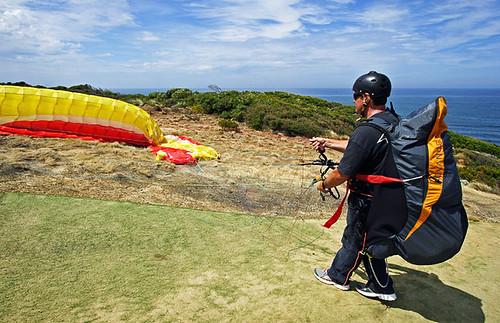 Paraglider at Torquay, Victoria, Australia IMG_5386_Torquay