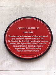 Photo of Cecil B. DeMille red plaque