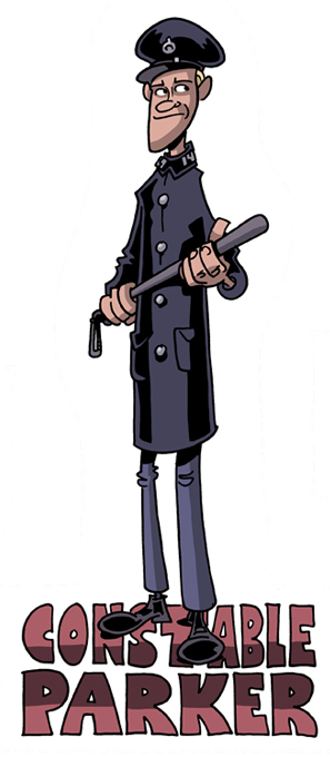 Constable Andy Parker, played by Brian Vaughan, from Decoder Ring Theatre's RED PANDA ADVENTURES