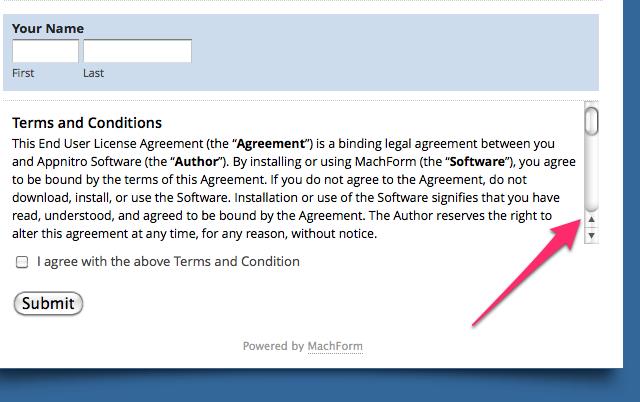 Scrolling Section Break Html Form Builder Online Php Form Creator