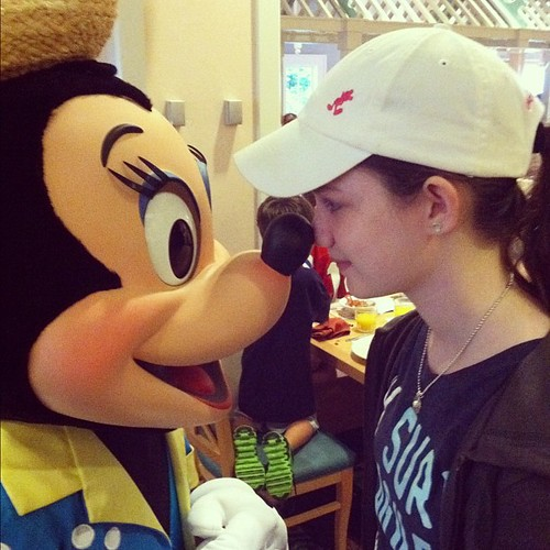 Minnie kisses. It's tradition. #disney