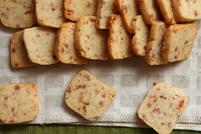 parmesan bacon shortbread