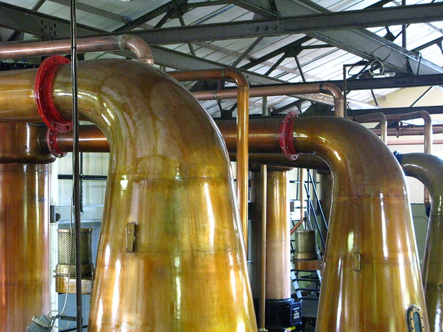 Cardhu distillery - wash stills neck