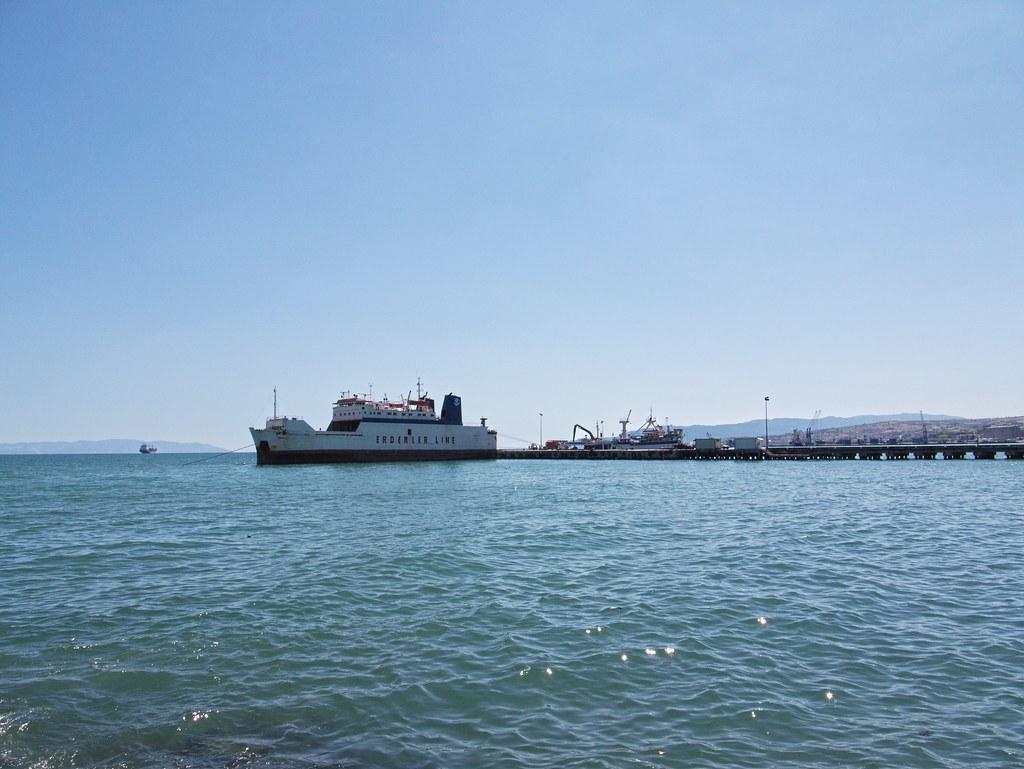 A ferry in its berth in Tekirdağ