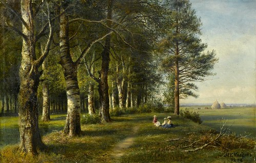 Mikhail Klodt von Jurgensburg - Under the Birch Trees [1874] by Gandalf's Gallery