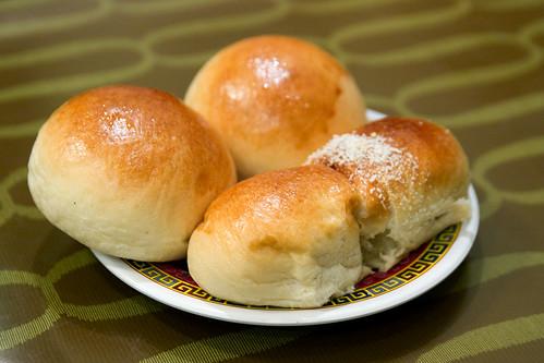Roast pork buns and cocktail bun