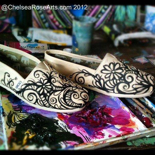 I am having fun painting shoes!