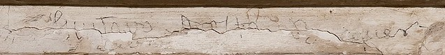 Grafito de Gustavo Adolfo Bécquer en la Portada del Convento de San Clemente en 2012. Fotografía de David Utrilla para Toledo Secreto