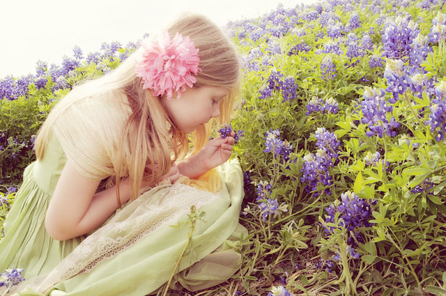 smelling bluebonnets