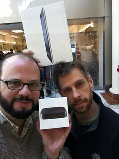 Wilson and James get new Apple toys