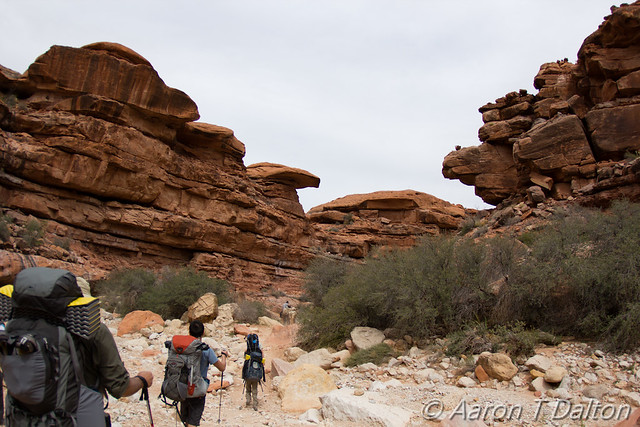 Hiking Through Boulders