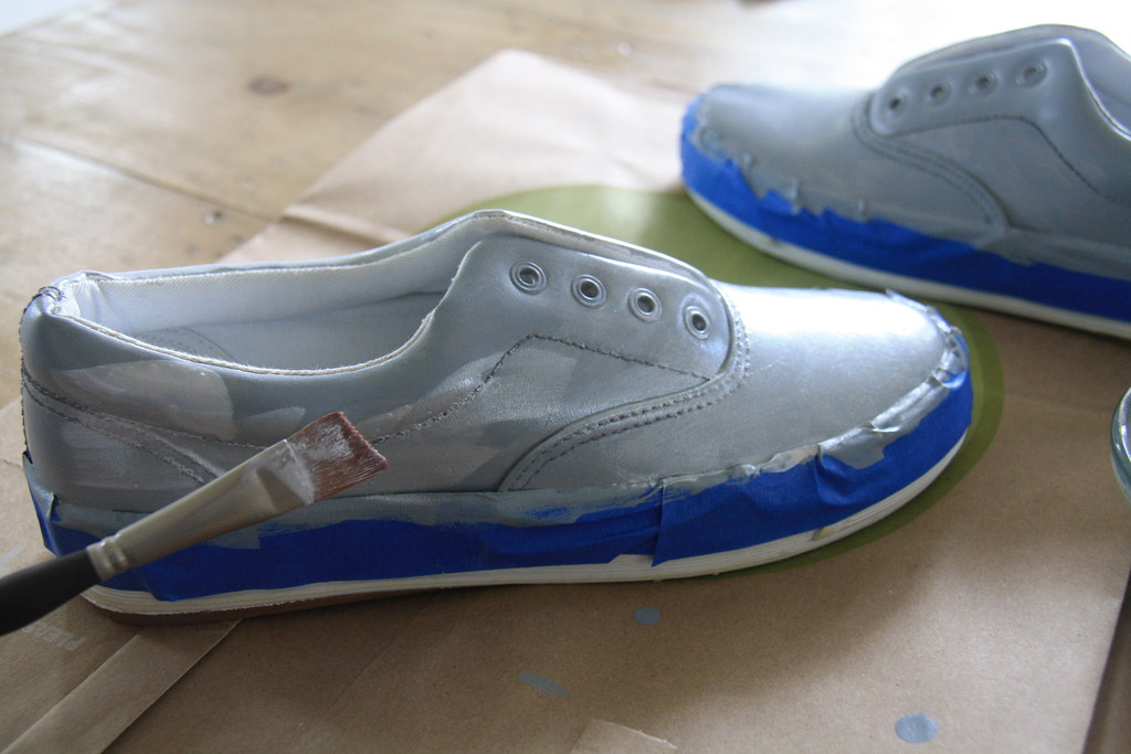 diy - how to paint leather shoes