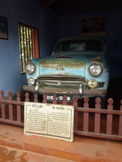 Austin car which a monk drove himself to Saigon in 1963 before burning himself to death protesting agains the Diem regime