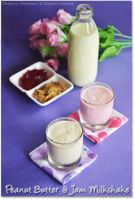 Jam Milkshake and Peanut Butter Milkshake  Recipe