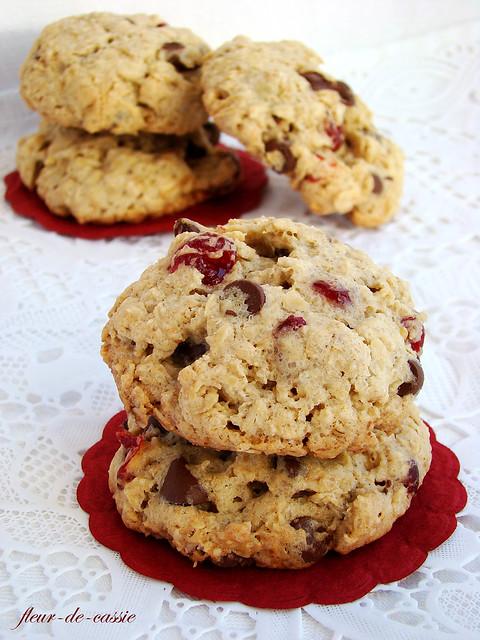 печенье овсяное с вишней  и шоколадом 2