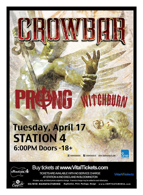 04/17/12 Crowbar/Prong/Witchburn @ Station 4, St. Paul, MN