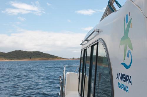 Navegando en el Lago Alqueva