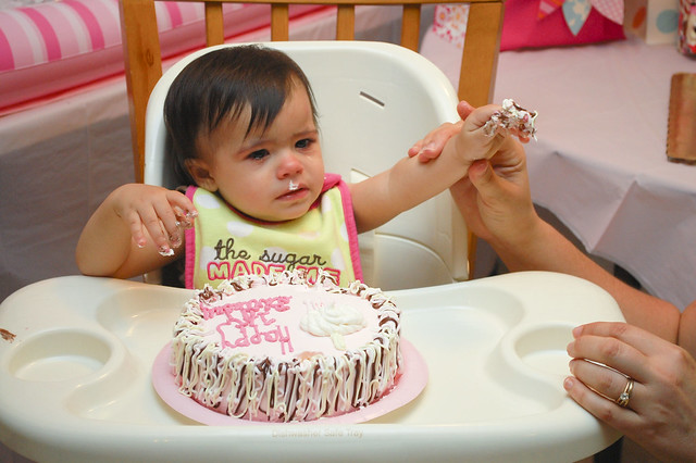 Evie's first birthday party.